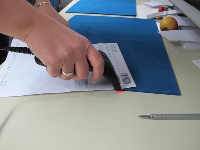 Scanner erkennt Pakete.