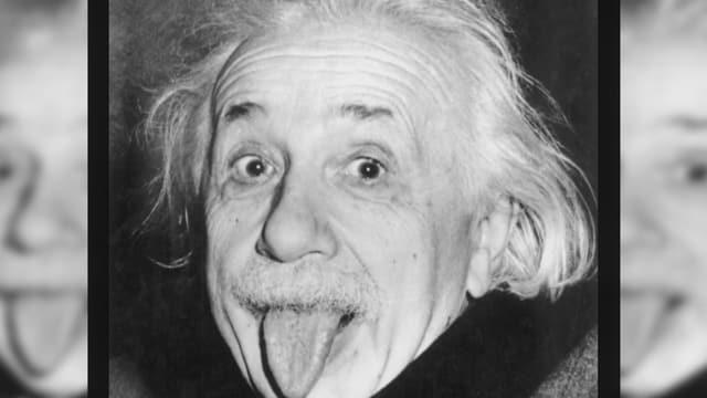 Albert Einstein mit Zunge