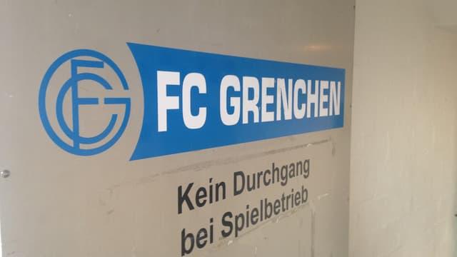 Blau-weisses Logo des FC Grenchen.