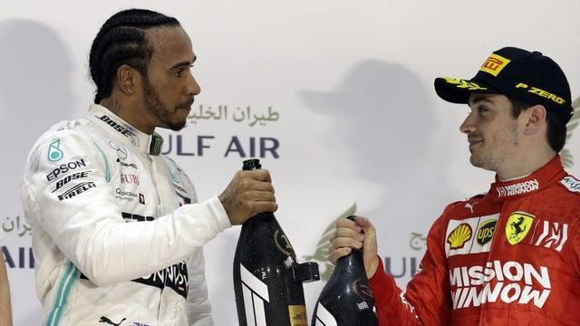 Purtret da Hamilton e Leclerc.
