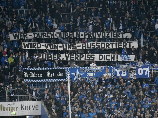 Botschaft der Hoffenheim-Fans.