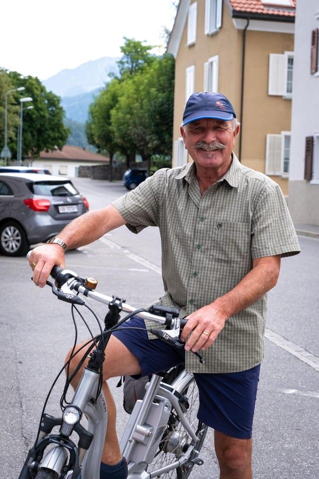 Portrait Rainer Kohler a Panaduz. El sin ses velo da E-bike.