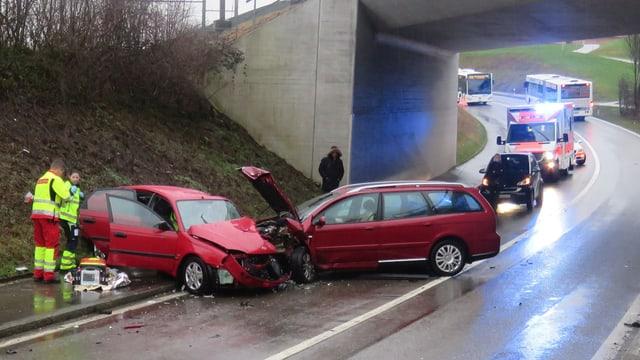 Autos nach Unfall