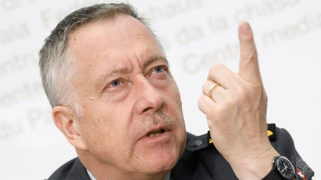 André Blattmann, il schef da l'Armada svizra.