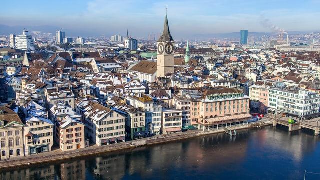 Die Zürcher Altstadt.