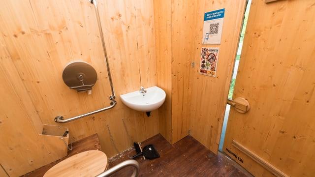 Das Innere der Toiletten