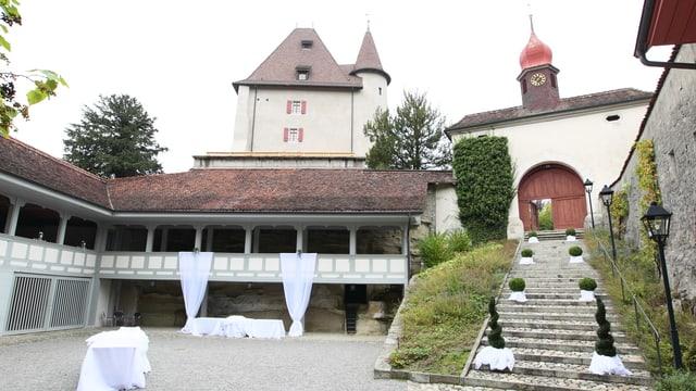 Innenhof Schloss Liebegg in Gränichen AG