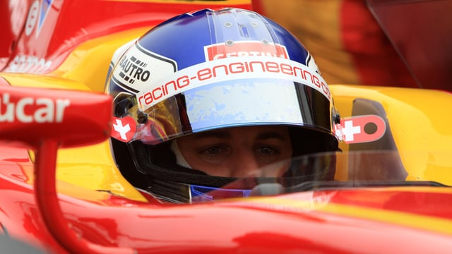 Fabio Leimer wurde in Ungarn Dritter.