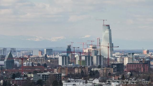 Anfangs Monat kehrte der Winter nochmals ans Rheinknie zurück.