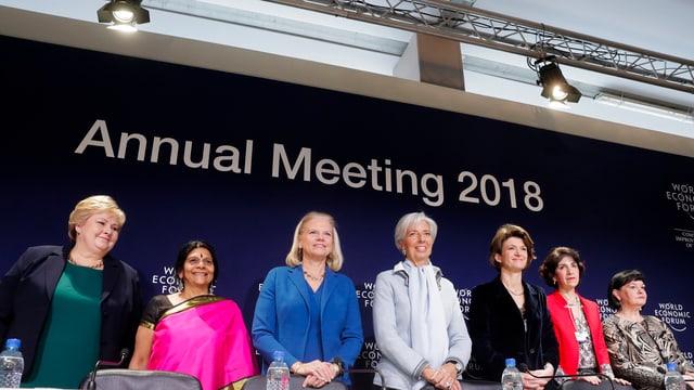 Die sieben weiblichen WEF-Leiterinnen
