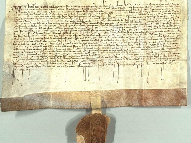 Urkunde aus dem Jahr 1349