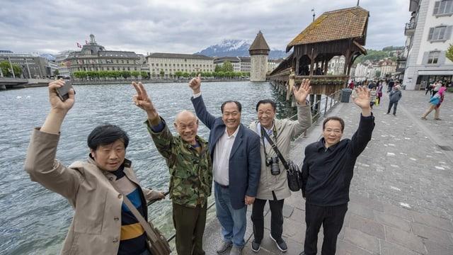 Turists chinais a Lucerna.