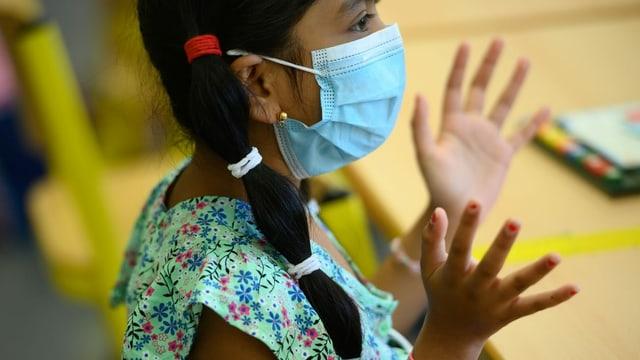 Ab 12 Jahren gilt in der ganzen Schweiz: In Geschäften, Bahnhöfen, Bibliotheken und anderen öffentlich zugänglichen Gebäuden musst du eine Atemschutzmaske tragen.