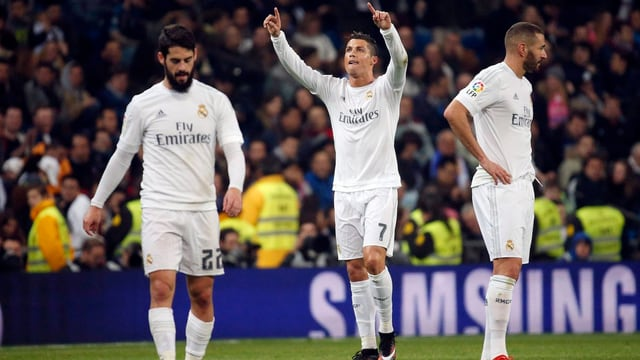 Isco, Cristiano Ronaldo, Karim Benzema.