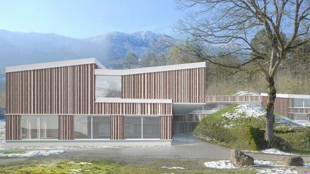 So hätte das neue heilpädagogische Zentrum Innerschwyz aussehen sollen.