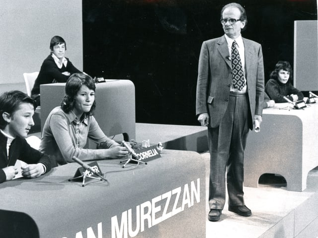 «Testas finas» cun las scolas da Glion e San Murezzan, ils 02.12.1973.
