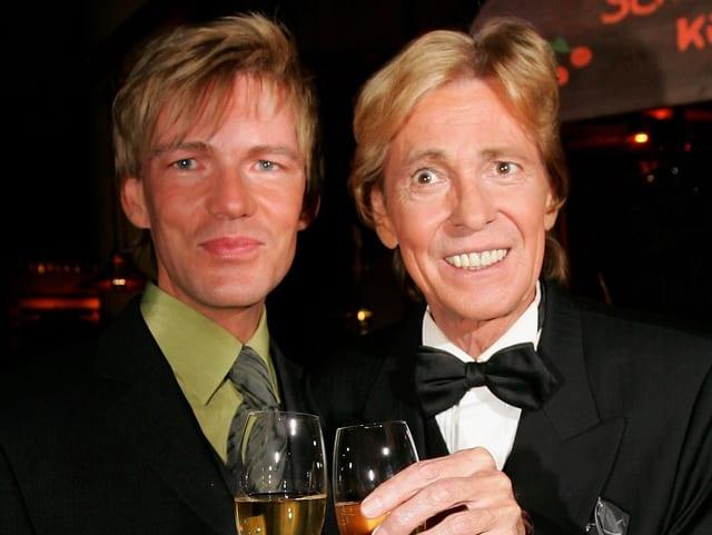 Jürgen Marcus mit seinem Manager und Lebensgefährten Nikolaus Fischer.