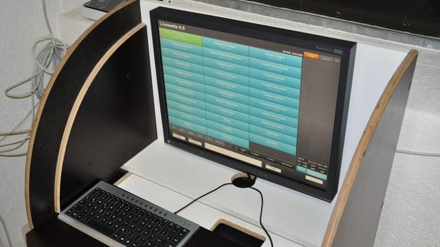 Wettautomat: Bildschirm und Tastatur