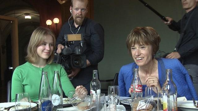 Jede Strategiesitzung wird gefilmt: Ruth Humbel, CVP, im Bundeshaus-Restaurant «Galerie des Alpes».