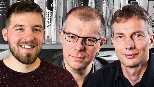 Bildmontage mit André Perler, Markus Gasser und Christian Schmutz.