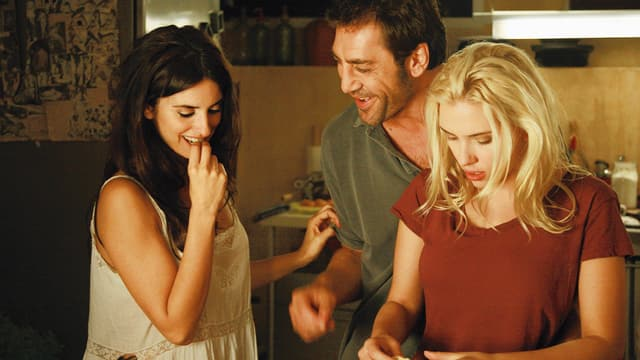 Penélope Cruz als Maria Elena, Javier Bardem als Juan Antonio Gonzalo, Scarlett Johansson als Vicky.