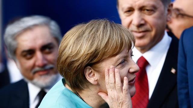 Deutsche Bundeskanzlerin Angela Merkel und der türkische Präsident Erdogan.