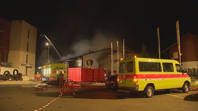 Brand in Hinwil.