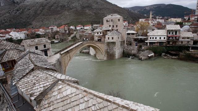 Die Ortschaft Mostar
