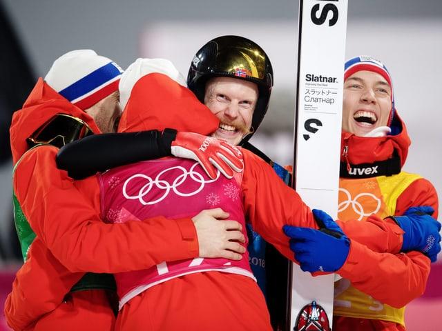 Das norwegische Skispring-Team