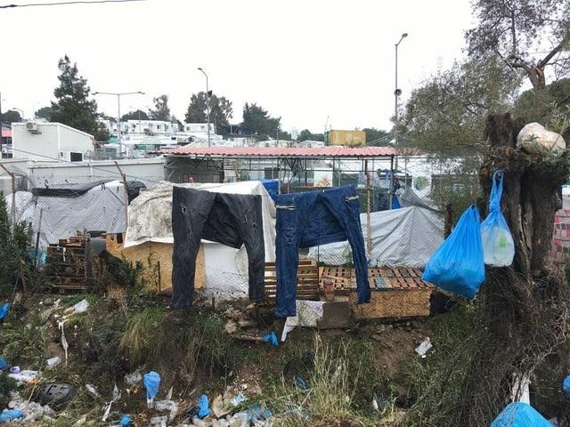 Bilder aus dem Camp auf Lesbos