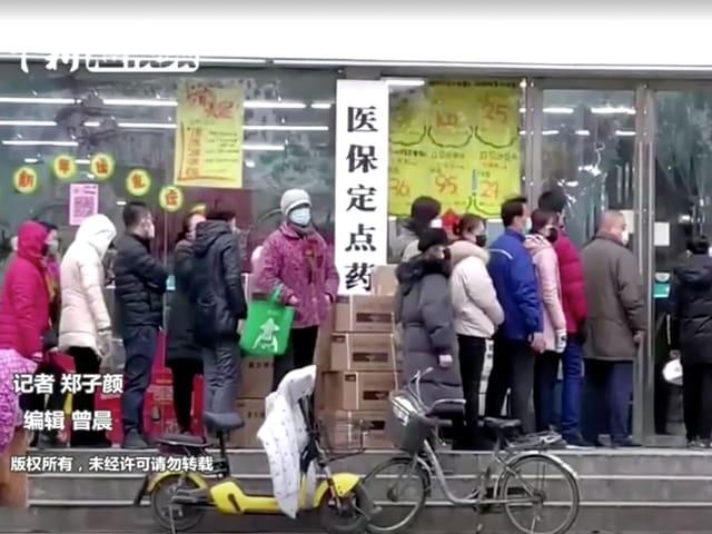 Strassenszene in Wuhan