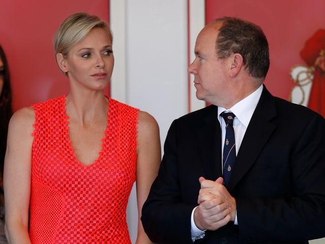 Charlène und Albert II. von Monaco