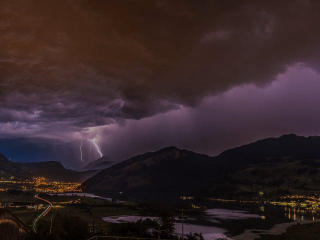 Blitzeinschlag.