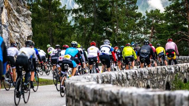 ciclists a la «Alpen Challenge»