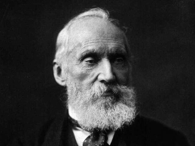 Portait des britischen Physikers William Thomson mit Rauschebart