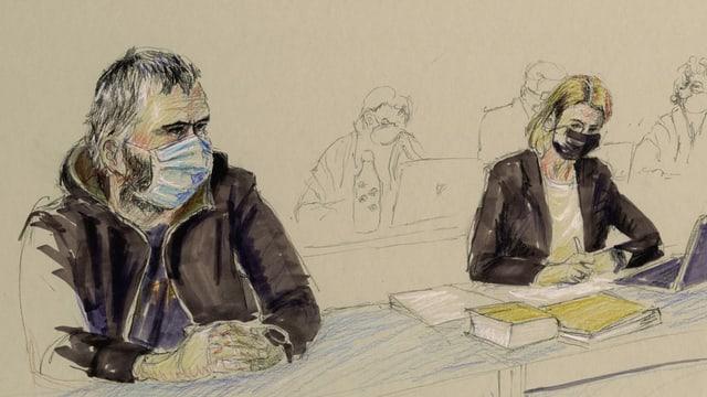 Der Vater vor Gericht.