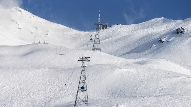 Das Skibebiet Lagalb oberhalb Pontresina am Berninapass.