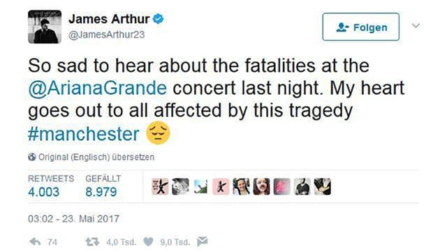 Tweet von James Arthur.