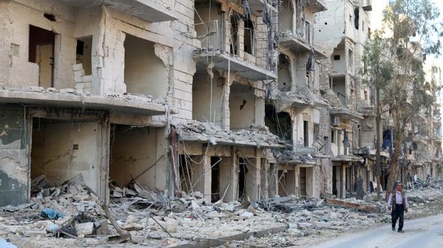 Chasas destruidas ad Aleppo