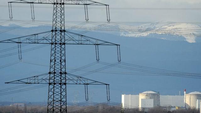 AKW mit Stromleitung