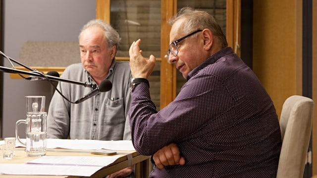 M. Seifert und H. Eichhorn im Hörspielstudio