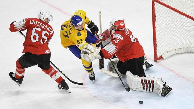 La Svizra perda cunter la Svezia cun 3:5.