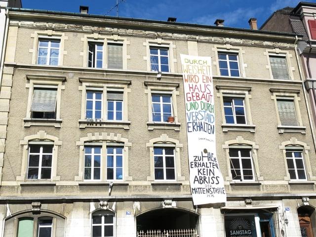 Fassade Mattenstrasse 74 und 76