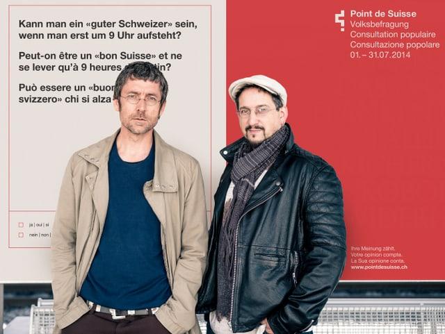 Marcus Gossolt und Johannes M. Hedinger vom Künstlerduo Com&Com.