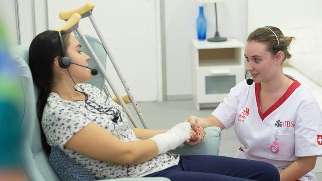 Irina Tuor im Einsatz an den Berufsweltmeisterschaften in Abu Dhabi.