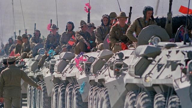 Sowjetische Truppen verlassen Kabul