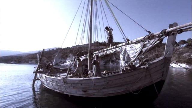 Ein schönes altes Schiff auf dem Mittelmeer.