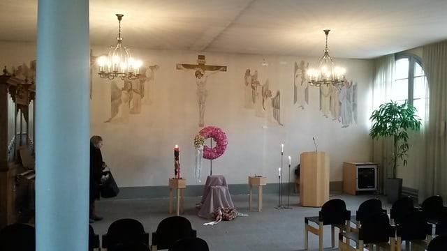 Die Abdankungshalle des Luzerner Friedhofs Friedental.