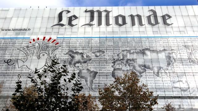 Fassade des «Le Monde»-Gebäudes in Paris.