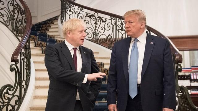 Boris Johnson e Donald Trump.